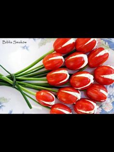 Tulip tomatoes. Really like this. Move over Radish Roses!