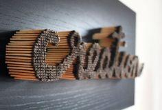 Allumettes et typographie par Pei-San Ng - Journal du Design