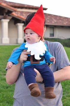 An adult garden gnome costume have a fun effect for any occasion. Choose the right adult garden gnome costume and the party can start! Cute Baby Halloween Costumes, Toddler Costumes, First Halloween, Boy Costumes, Carnival Costumes, Baby Gnome Costume, Costumes For Babies, Garden Gnome Halloween Costume, Costume Ideas