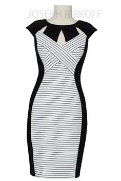 Joseph Ribkoff Dress | Black and White |