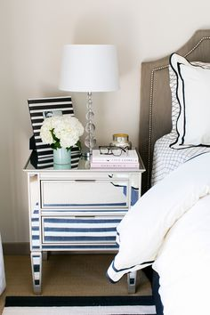 Bedroom Refresh With Pbteen The Life And Style Of Nichole Ciotti Mirrored Nightstandnightstand