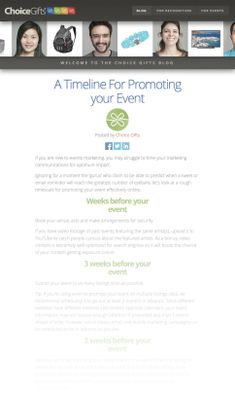 A Timeline For Promoting your Event