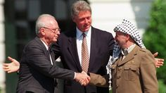 İzak Rabin, Bill Clinton and Yaser Arafat