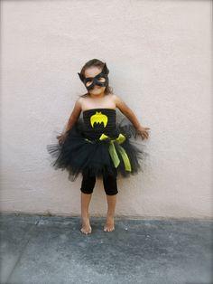 Bat Costume. Bat Tutu Costume. Black Tutu. Black and yellow Tutu. Halloween Costume for Little Girls. Super Hero Costumes