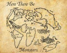 old world maps   Old World Map by ~FrostDrake on deviantART