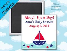 Ahoy It's a Boy Baby Shower Favor Magnets by Stuck Together Magnets, 10 for $23.00