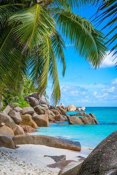 Georgette beach, Seychelles / Anse Georgette es quizás la playa más hermosa de Praslin, y sin duda una de las mejores de las Seychelles gracias a su increíble mezcla de blanco prístino.