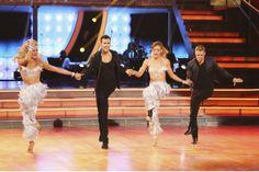 Derek, Hough, Amy Purdy, Peta Burgess, & James M. jive in The Dance Duel  -  Dancing With the Stars  -  Week 8  -  Season 18  -  Spring 2014