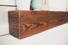 48x7 Rustic Driftwood and Barn Board Floating Shelf by foundpiece