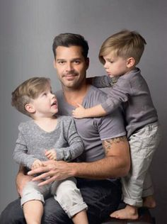 Gay dad Ricky Martin (shown with twins Matteo & Valentino) speaks out on Puerto Rico's same-sex adoption ban.