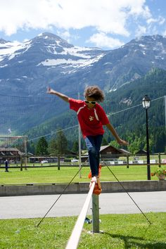 Slackline, Les Diablerets Summer Activities, Nature, Travel, Mountains, Switzerland, Landscape, Viajes, Traveling, Nature Illustration