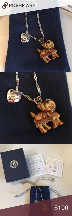 Pin by tiffany mckitrick on my yorkie bradford pinterest yorkie diamond pendant brand newnever used bradford exchange playful pup yorkie diamond pendant aloadofball Gallery