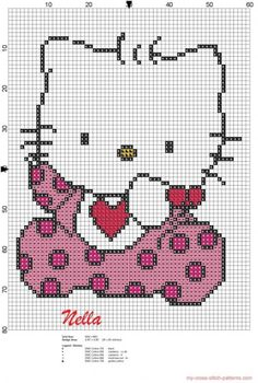 hello kitty cross stitch patterns free