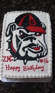 Excellent 79 Best Georgia Cakes Images Georgia Bulldogs Cake Bulldog Cake Funny Birthday Cards Online Elaedamsfinfo