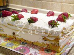 Τούρτα φράουλα - Συνταγές Kitchen Queen Cake, Desserts, Food, Tailgate Desserts, Deserts, Kuchen, Essen, Postres, Meals