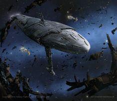 Star Wars- Mon Calamari Exodus Fleet by AnthonyDevine.deviantart.com on @DeviantArt