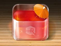 Fruit Punch iOS app icon  by Ryan Ford May 22, 2012 (via dribbble 571983)
