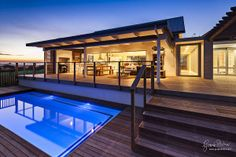 LOVE this decking and open plan lounge