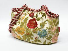 https://flic.kr/p/fUK1L3 | Floral velvet Granny bag | Handmade with love from vintage fabrics