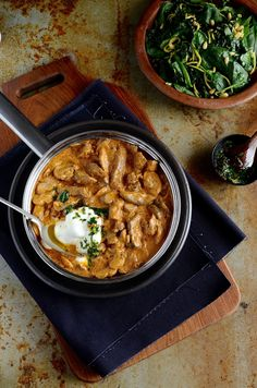A South African favourite - Fillet of beef Whisky Stroganoff with succulent beef in a creamy paprika sauce, shiitake mushrooms and lemon-parsely pesto