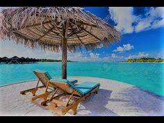 East Urban Home Ambesonne Beach Shower Curtain Maldives Scenic Seaside View Sunbeds Under Umbrella Romantic Honeymoon Theme Cloth Fabric Bathroom De Beach Shower Curtains, Shower Curtain Sets, Bora Bora, Maldives, Tropical Beach Resorts, Famous Places In France, Beach Pink, Destinations, Caribbean Resort