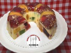Gelatina de Mosaico con Frutas