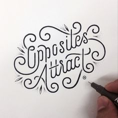 Hand lettering - the beautiful art of drawing letters, words and sentences. I constantly come across new lettering Typography Love, Typography Quotes, Typography Letters, Graphic Design Typography, Lettering Design, Types Of Lettering, Brush Lettering, Brush Script, Typographie Fonts