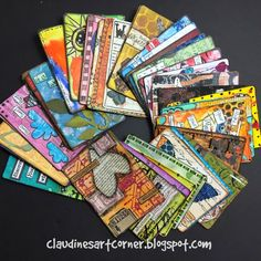 Claudine's Art Corner: The Altered Playing Card Challenge - the entire deck; Mar 2015