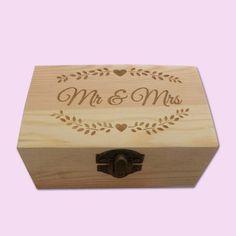 Mr & Mrs Floral Engraved Little Box