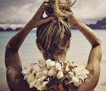 beach, beach girl, bohemian, boho girl, candice swanepoel, indie, style, summer, vs angel, vs swim, victoria's secret