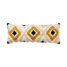 Mexica Mustard & Navy King Cushion Jill Zoloto Borkowicz Jill Zoloto Borkowicz Home Republic - Mexic Mustard Bedroom, Mustard Bedding, Needle Cushion, Diy Cushion, Boho Bedding, Boho Pillows, Diy Pillows, Grey And Gold Bedroom, Muebles Home