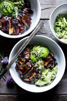 Grilled Japanese Farm-Style Teriyaki Bowl | Vegan & Gluten Free! |www.feastingathome.com