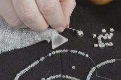 Watch this Threads Essential Techniques video to discover three methods of adding shine and sparkle to your knit garments.