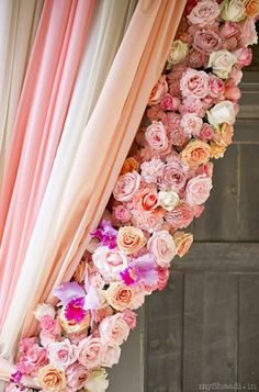 WOW !! Roses Trim Curtain. Absolutely Gorgeous and probably Absolutely Expensive.