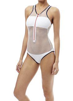 2068cf749cdad Zuma Swimsuit White. Jenniffer LawrenceWhite SwimsuitOne Piece  SwimsuitBeachwear FashionMelissa OdabashSports ...