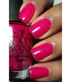 "NEW OPI Vintage Minnie ""I'M ALL EARS"" Duochrome Shimmer Bold PINK -FREE SHIPPING $9.95"