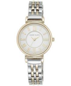 Anne Klein Women's Two-Tone Stainless Steel Bracelet Watch 30mm Ak/2159SVTT