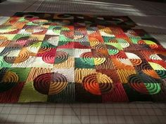 Love the quilting on these circles