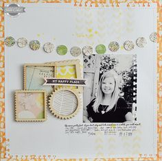 Wilna Furstenburg for Studio Calico...love the punched edges of the cardstock, the banner and the frames