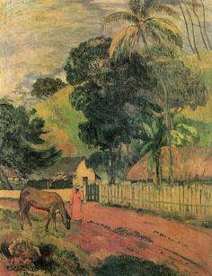 Gauguin 849f631bbff52c0fb2b1e2dd67742640--paul-gauguin-landscape-art