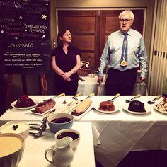 Stephen: the Master of ceremonies of #PuddingClub - #ThreewaysHouse #fermataUK #travel #presstrip #tophotel #Cotswold