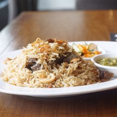 Arabic rice, mutton, cashew and raisins