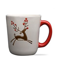 This Prancing Reindeer 14-Oz. Mug - Set of Two is perfect! #zulilyfinds