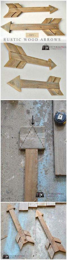 Check out this easy idea on how to make a #DIY #rustic #wooden arrow that you can make and #sell #homedecor DIY Home Decor Ideas @ ISD