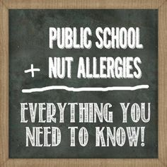 Navigating the Public School System with a child who has a Peanut Allergy - free… Tree Nut Allergy, Peanut Allergy, Peanut Free Classroom, Nut Free Snacks, Kids Allergies, Classroom Signs, Classroom Ideas, Allergy Free Recipes, Public School
