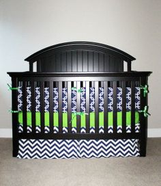 navy blue baby bedding   ... Crib bedding - Green and Navy Blue   We're HAVING ANOTHER BABY
