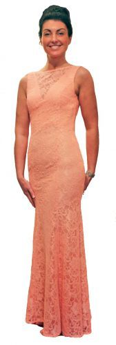 Buy or Hire Peach Mermaid Lace Prom Dress Peach Prom Dresses, Mermaid Prom Dresses Lace, Walk In Wardrobe, Online Boutiques, High Neck Dress, Collection, Fashion, Moda, Wardrobe Closet