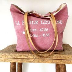 """Image of Beach bag rose """"La Baule les pins"""""""