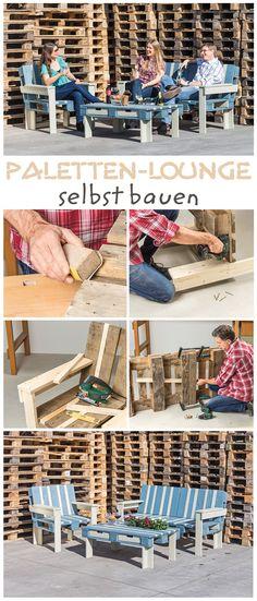 Palettenmöbel sind eine günstige Alternative zu gekauften Stücken und sehen zudem sehr schick aus. Wir haben eine Lounge für Garten, Balkon oder Terrasse aus Paletten selbst gebaut. Unsere Bauanleitung zeigt dir, wie es geht.