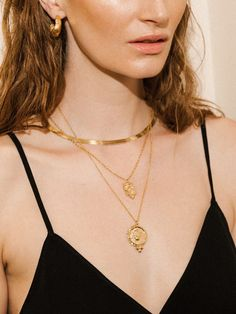 Gold Chain Link Urban Style Thin Tassels Pendant Necklace With Earrings
